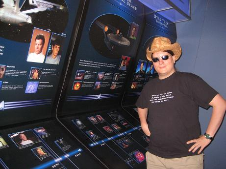 Florian in der Star Trek Exhibition